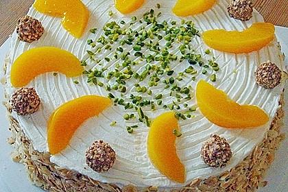 Giotto - Nuss - Torte mit Pfirsichen 2