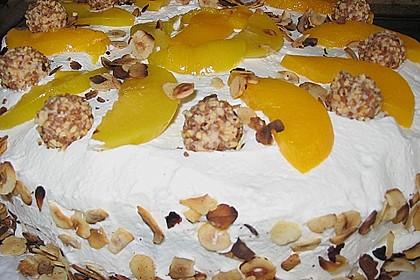 Giotto - Nuss - Torte mit Pfirsichen 9