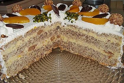 Giotto - Nuss - Torte mit Pfirsichen 5