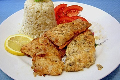 Gebackener Viktoriabarsch mit Kräuter - Reis