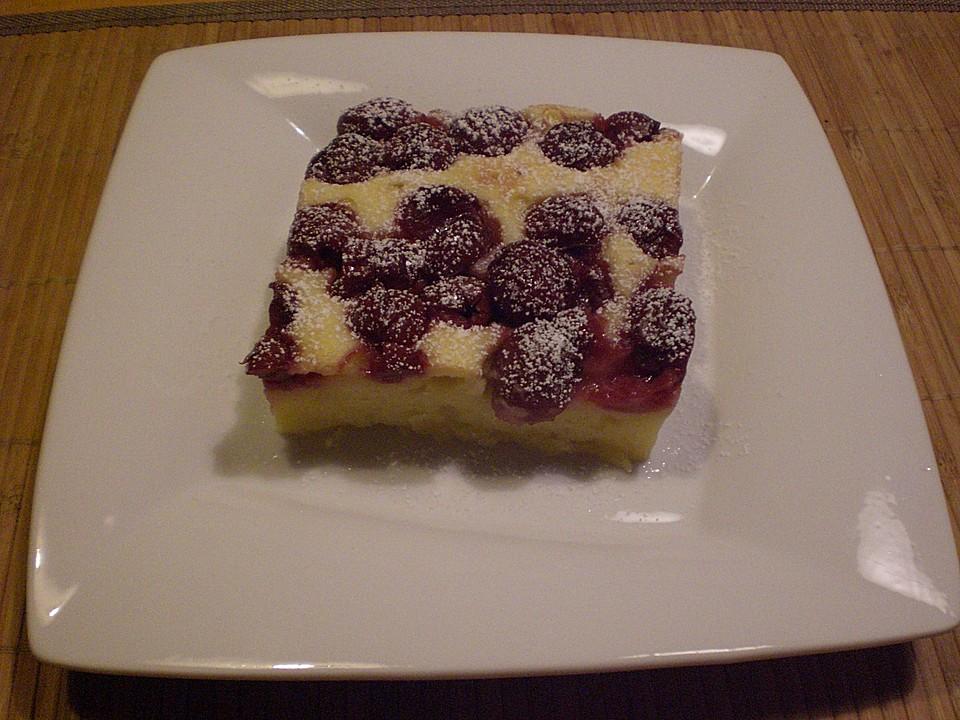 Kirsch Quark Kuchen Vom Blech Von Kafersandra Chefkoch De