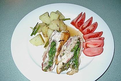 Gerollte Hähnchenbrust mit Spargel & Prosciutto 3