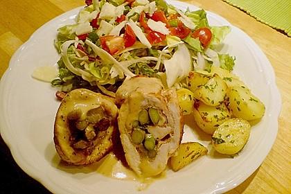 Gerollte Hähnchenbrust mit Spargel & Prosciutto