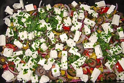 Schichtsalat auf griechisch 3
