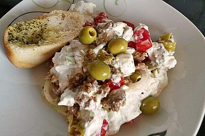 Schichtsalat auf griechisch 2