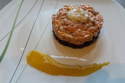 Lachs - Orangen - Tartar mit  Belugalinsen 2