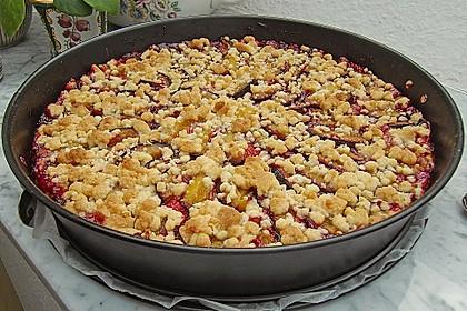Zwetschgen-Streuselkuchen mit Pudding 17