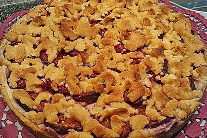 Zwetschgen-Streuselkuchen mit Pudding 88