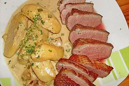 Steinpilz - Rahmkartoffeln mit Entenbrust 10
