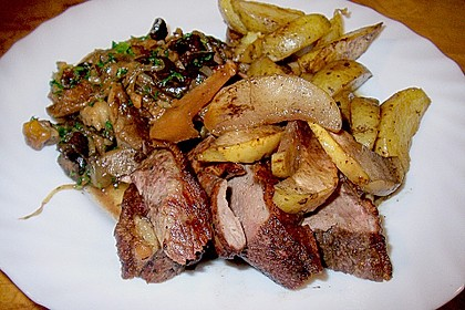 Steinpilz - Rahmkartoffeln mit Entenbrust 15