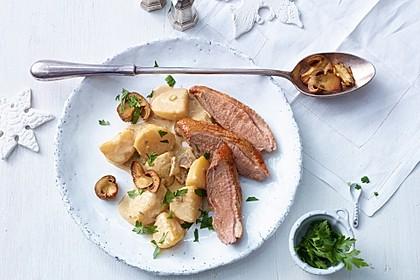 Steinpilz - Rahmkartoffeln mit Entenbrust 1