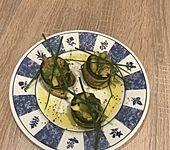 Zucchini - Räucherlachs - Röllchen (Bild)
