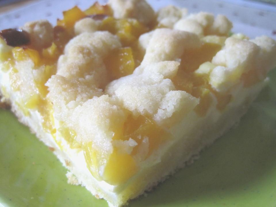 Pfirsich Mascarpone Kuchen Mit Streuseln Von Flyingduck