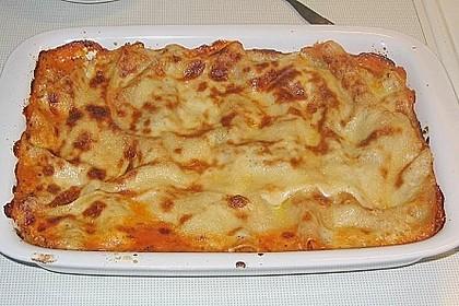 Lasagne mit Hackfleisch und Pilzen