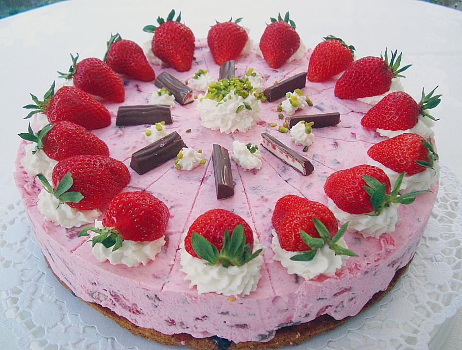 Erdbeer Quark Torte Mit Joghurette Von Stetim Chefkoch De