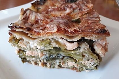 Lachs-Lasagne mit Spinat 10