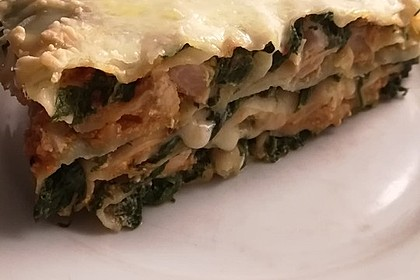 Lachs-Lasagne mit Spinat 20