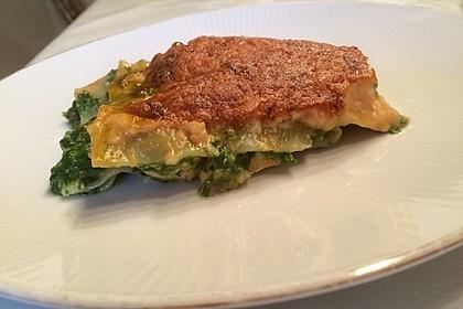 Lachs-Lasagne mit Spinat 7