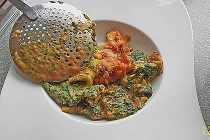 Lachs-Lasagne mit Spinat 69