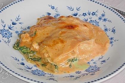 Lachs-Lasagne mit Spinat 84