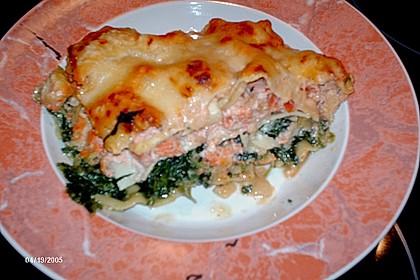 Lachs-Lasagne mit Spinat 131