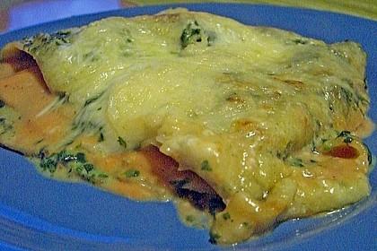 Lachs-Lasagne mit Spinat 126