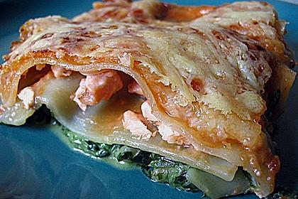 Lachs-Lasagne mit Spinat 24
