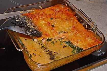 Lachs-Lasagne mit Spinat 43