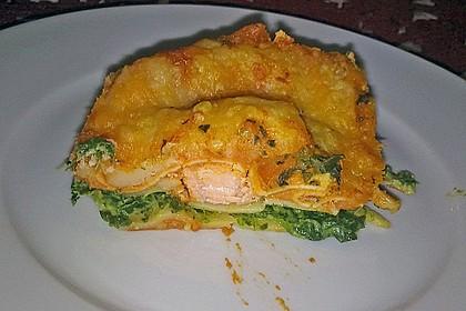 Lachs-Lasagne mit Spinat 17