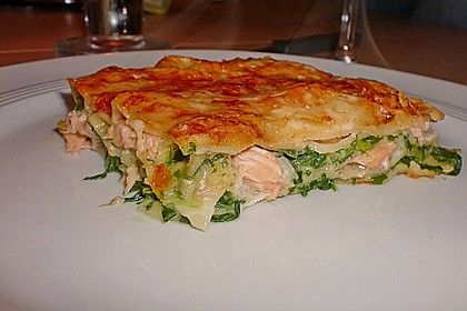 Lachs-Lasagne mit Spinat 3