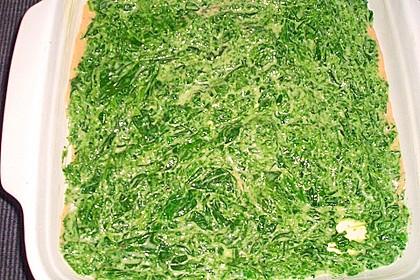 Lachs-Lasagne mit Spinat 100