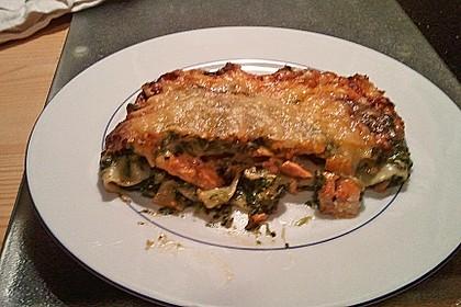Lachs-Lasagne mit Spinat 114