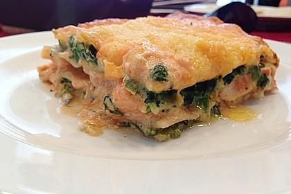 Lachs-Lasagne mit Spinat 1