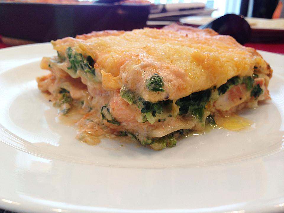 Lachs Lasagne Mit Spinat Von Stetim Chefkoch