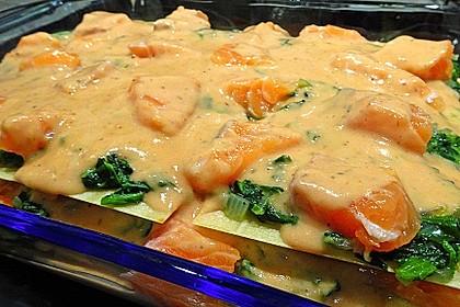 Lachs-Lasagne mit Spinat 15