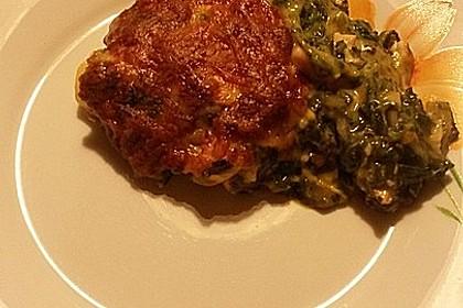 Lachs-Lasagne mit Spinat 101
