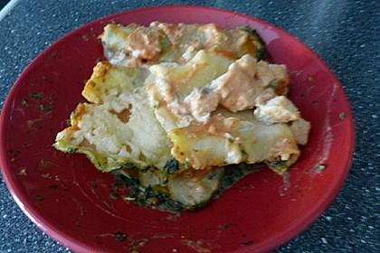 Lachs-Lasagne mit Spinat 98