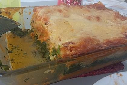 Lachs-Lasagne mit Spinat 80