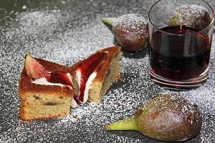 Portwein-Feigenkuchen mit Vanille-Schmandfüllung 1