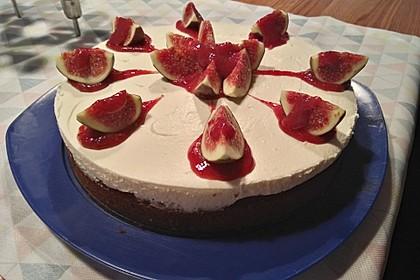 Portwein-Feigenkuchen mit Vanille-Schmandfüllung