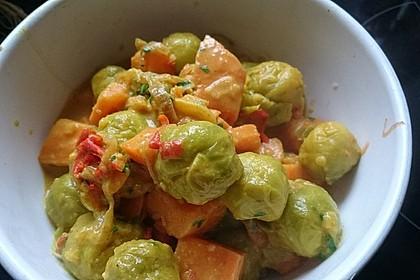 Süßkartoffel-Rosenkohl-Curry