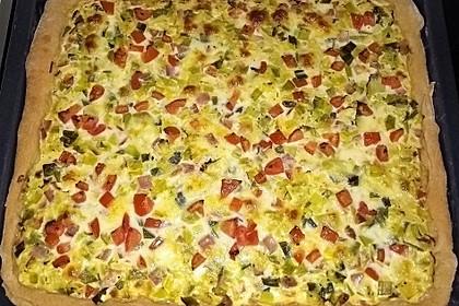 Lauchkuchen Tomate-Mozzarella