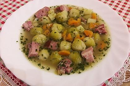 Rosenkohlsuppe mit Kasseler