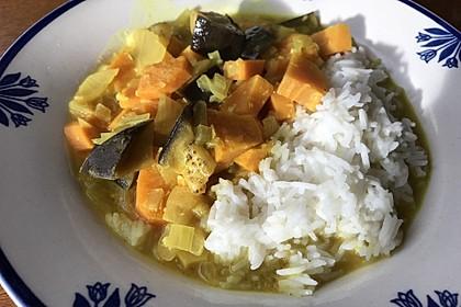 Süßkartoffel-Auberginen-Curry