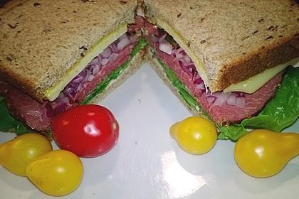 Schnelles Pastrami Sandwich