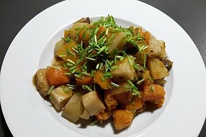 Herbstlicher Kürbis-Kartoffel-Eintopf 1