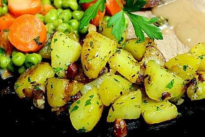 Bratkartoffeln mit Majoran und Kümmel 2
