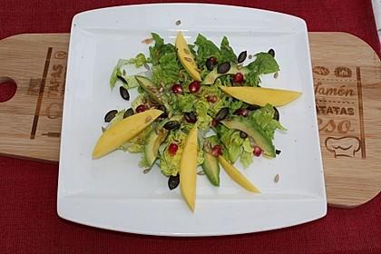 Mango-Avocado-Salat mit Topping 1