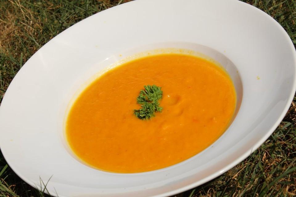 Kürbissuppe mit Ingwer und Orangensaft von Lillifee0 | Chefkoch