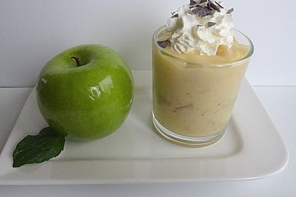 Apfelkompott mit Vanillepudding (Bild)